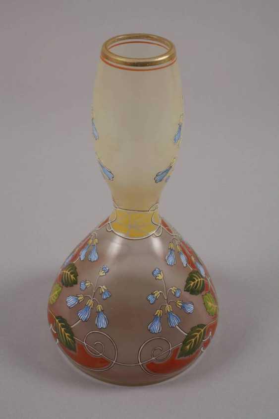 Art Nouveau style vase with enamel painting - photo 3
