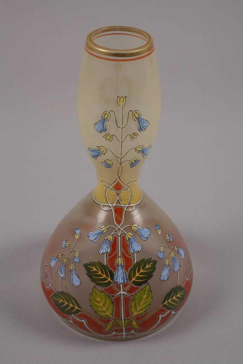 Art Nouveau style vase with enamel painting - photo 4
