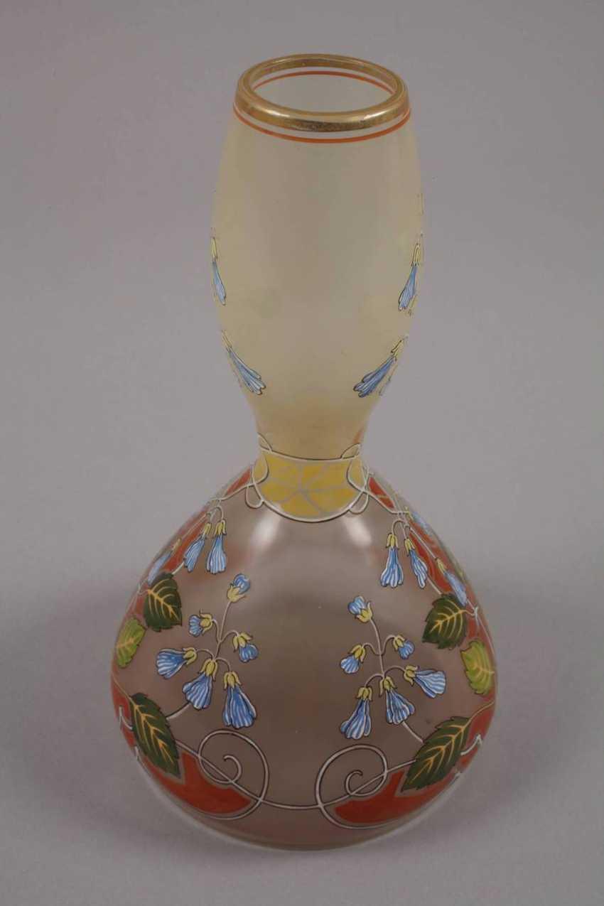 Art Nouveau style vase with enamel painting - photo 5
