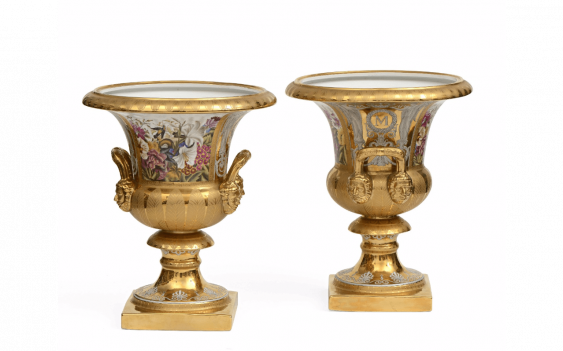 Rare and important pair of porcelain vases... - photo 1