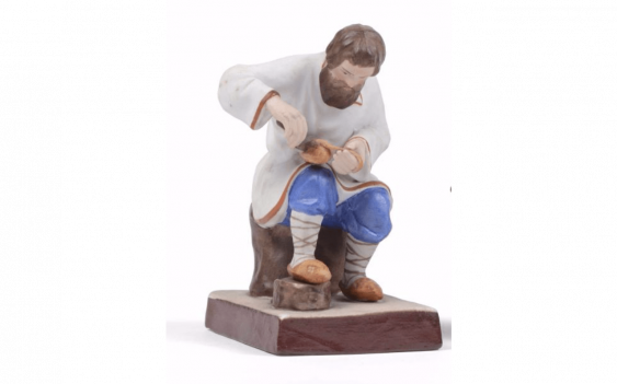 Figure in biscuit porcelain polychrome...