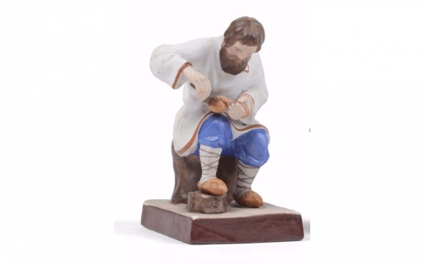 Figure in biscuit porcelain polychrome... - photo 1