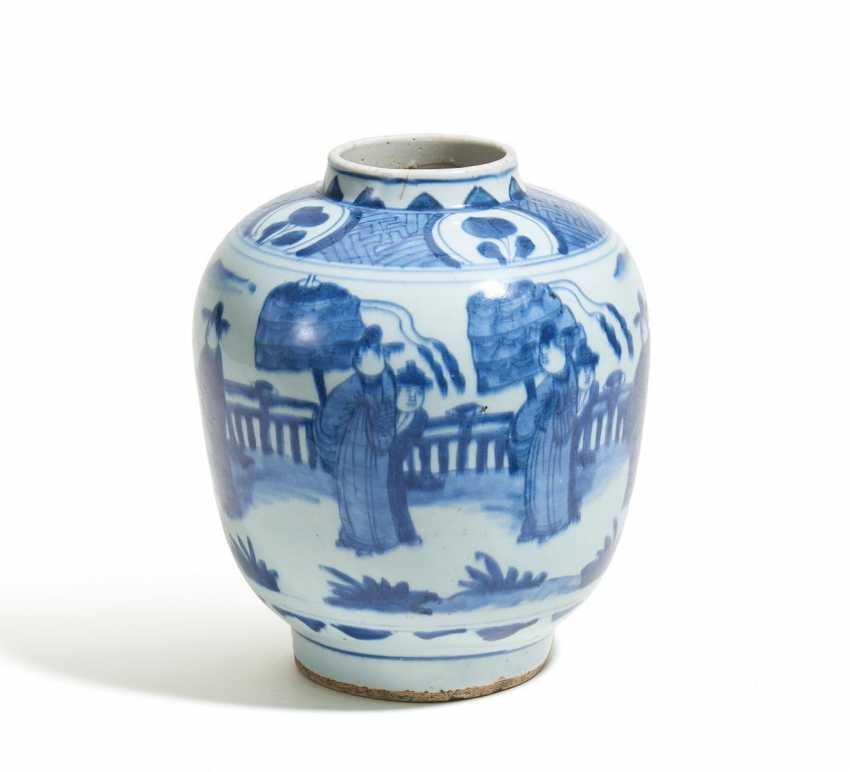 Frühe bauchige Vase im chinesischen Stil - Foto 1