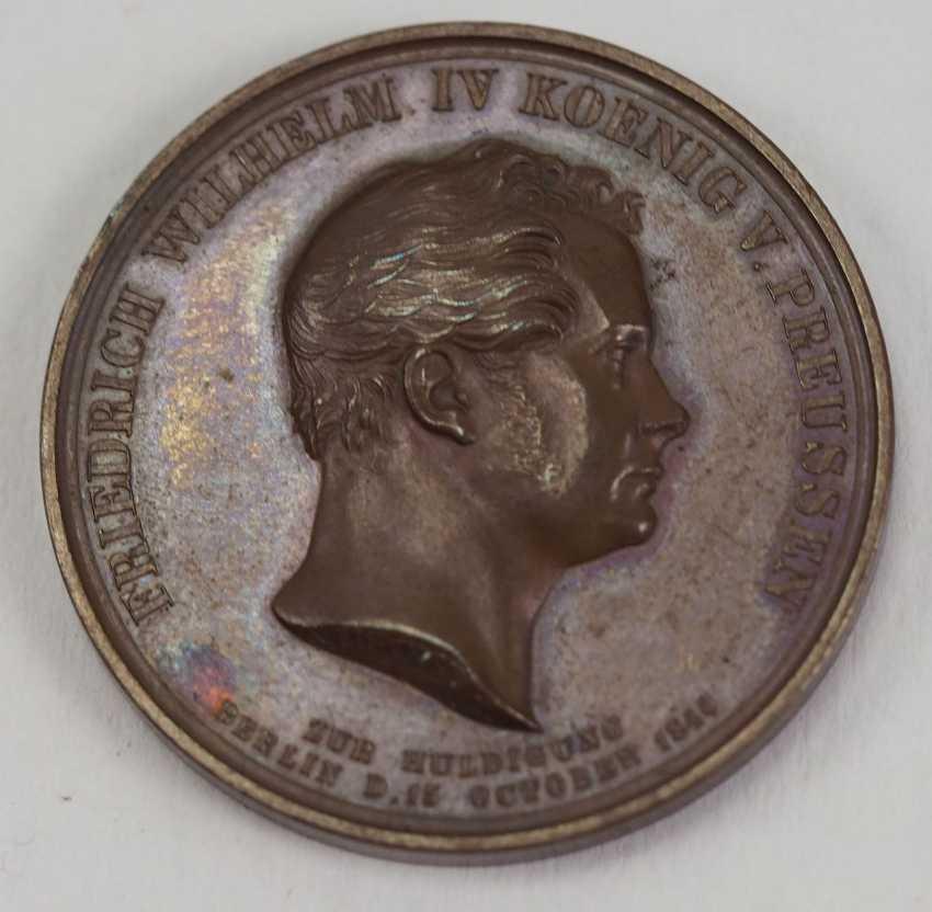 Prussia: tribute to medal of Friedrich Wilhelm IV. - Bronze. - photo 1