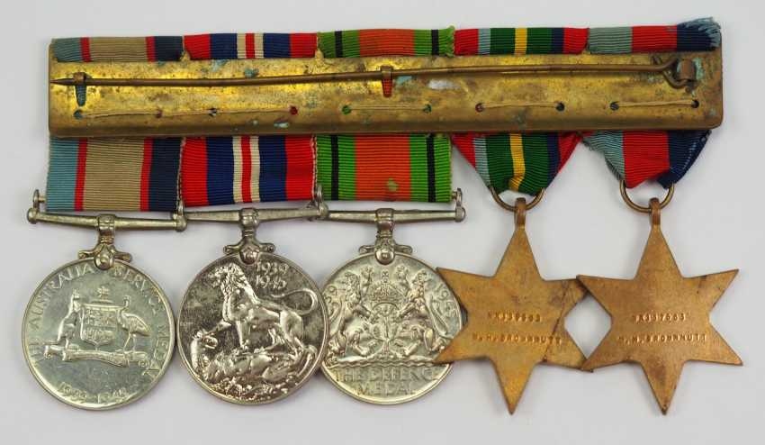 Australia: Great medalbar with 5 decorations. - photo 3