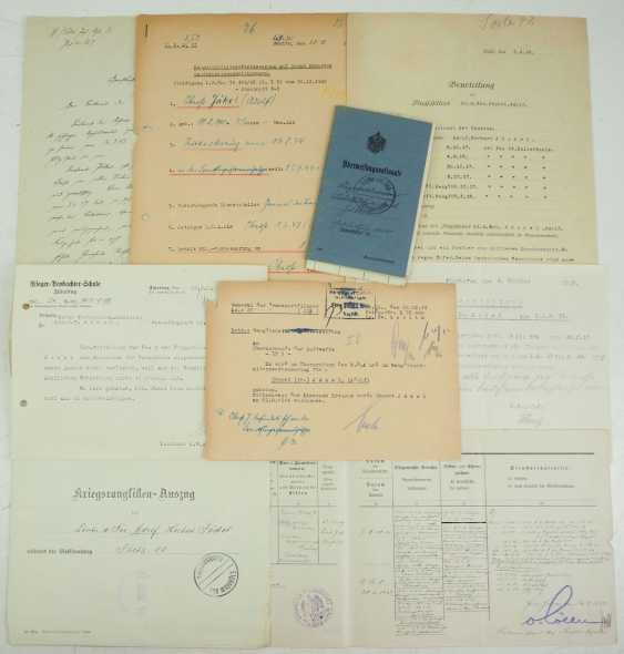 Documents from the estate of the Colonel Adolf Jäkel - knight's cross on 19.8.1944. - photo 1