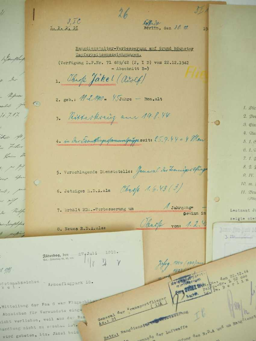 Documents from the estate of the Colonel Adolf Jäkel - knight's cross on 19.8.1944. - photo 2