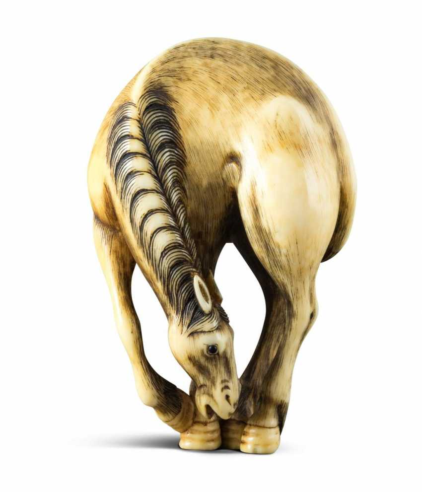 Netsuke: Standing Horse - photo 1
