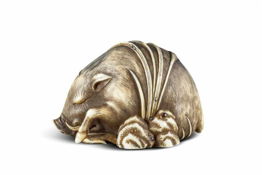 Netsuke: Lying Boar - photo 1