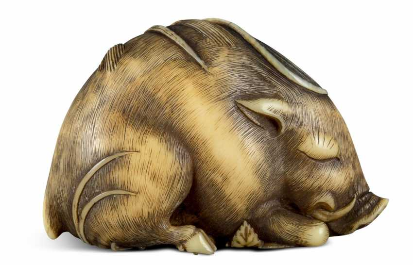 Netsuke: Lying Boar - photo 2