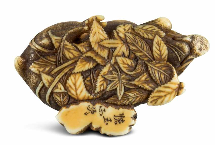 Netsuke: Lying Boar - photo 3