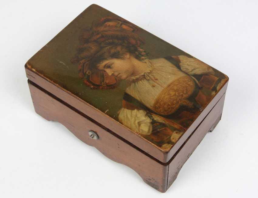 small cylindrical music box, circa 1890 - photo 2