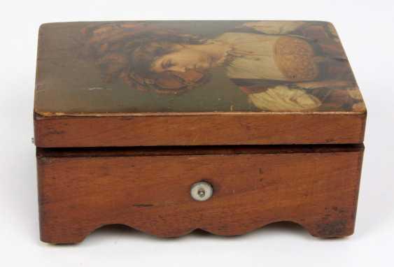 small cylindrical music box, circa 1890 - photo 3