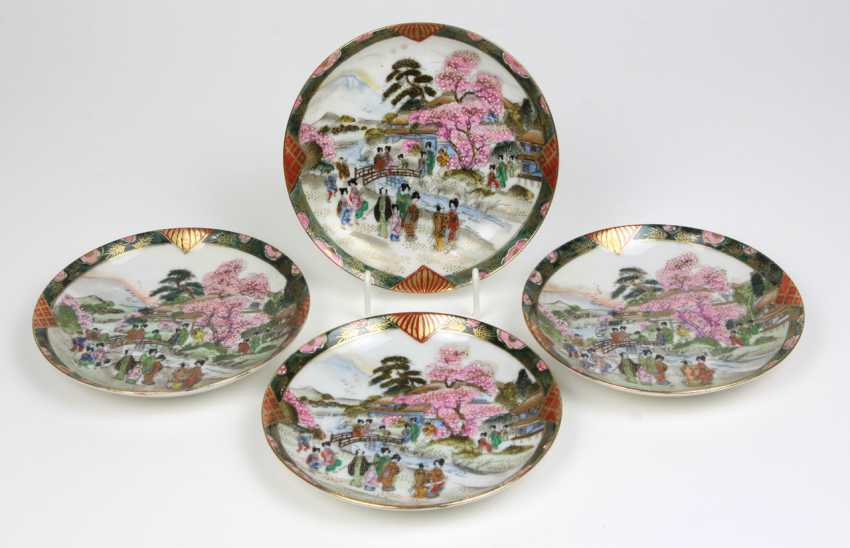 4 saucers Chinese hand painting - photo 1