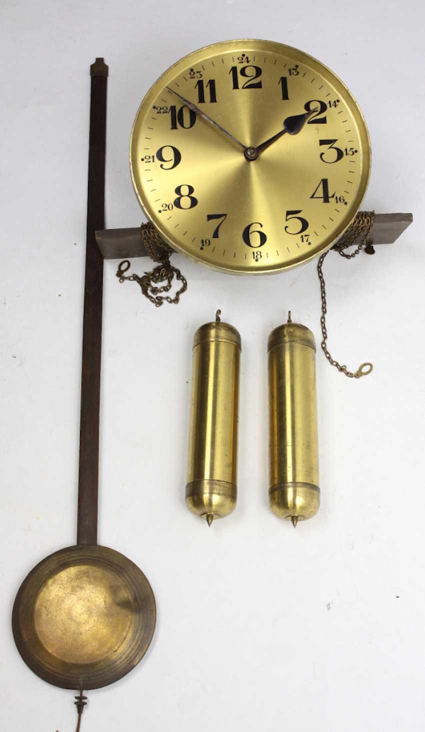 Lot 1463  Grandfather clock movement, pendulum &
