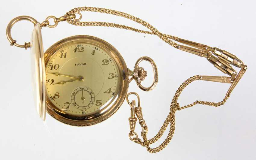 Savonette pocket watch in *Favour* with chain - photo 1