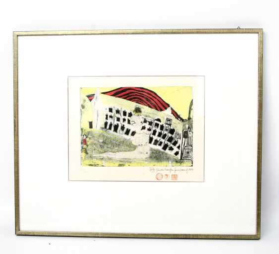"""HUNDERTWASSER, FRIEDENSREICH (1928-2000): """"Girl is found in the Grass"""", 1964, - photo 1"""