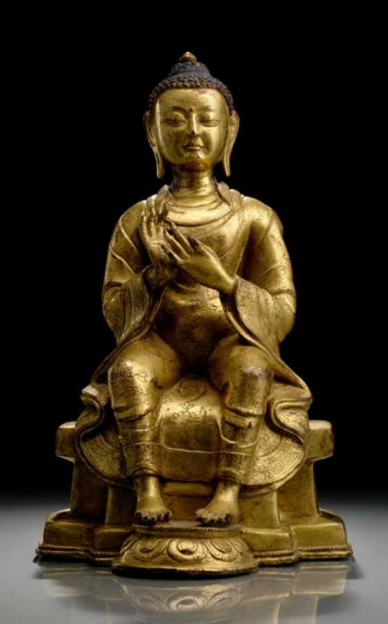 FIRE-GILT BRONZE OF MAITREYA - photo 1