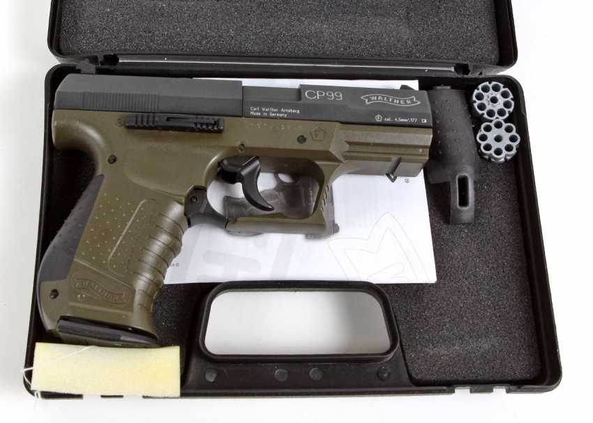Lot 2136  Air pistol Walther CP99 with accessories from the catalog