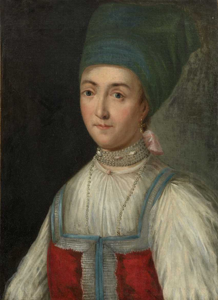 RUSSIAN SCHOOL (FIRST HALF OF THE 19TH CENTURY). Portrait of a Noble Woman - photo 1