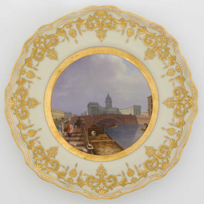 A Porcelain Dessert Plate from the Dowry Service of Grand Duchess Alexandra Nikolaevna - photo 1