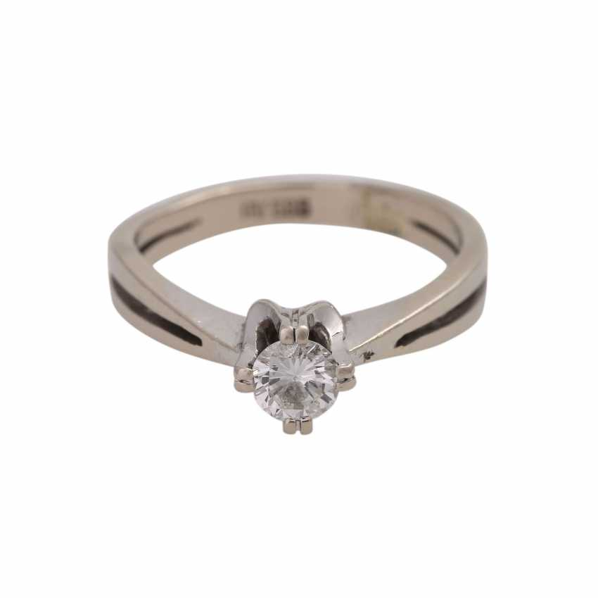 Solitaire ring with 1 Brillant CA. 0,25 ct - photo 1