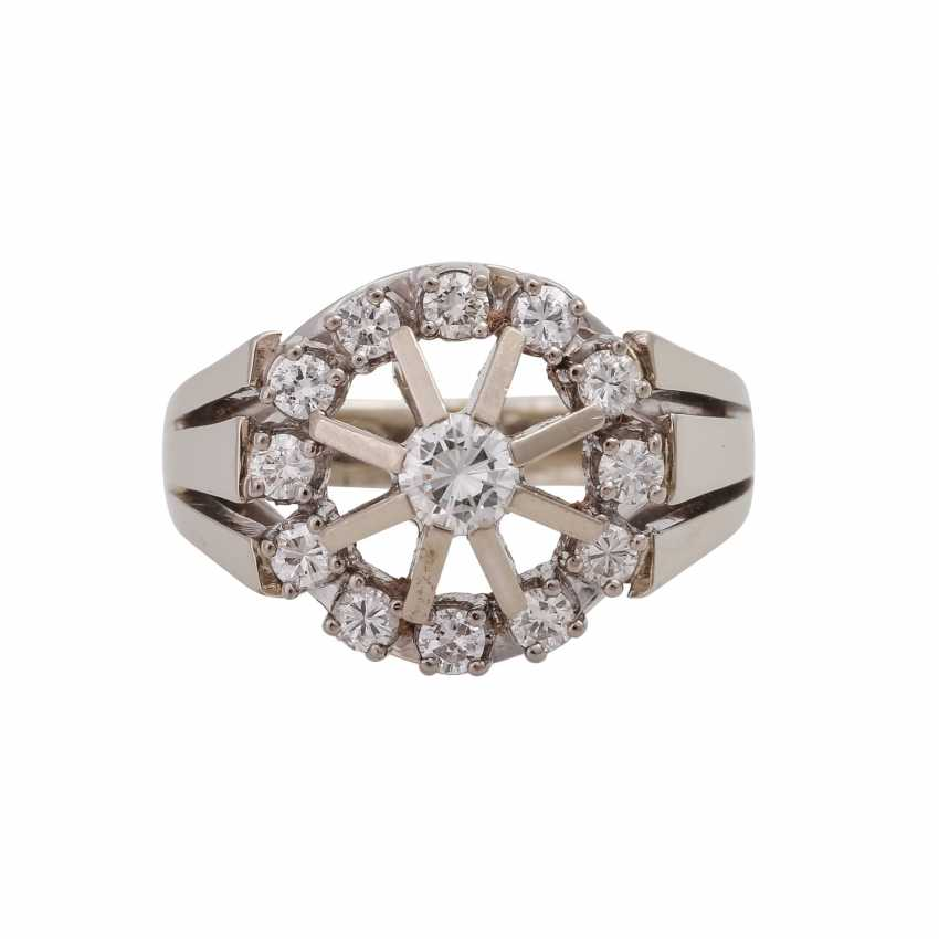 Ring with brilliant, approximately 0.6 ct, - photo 1