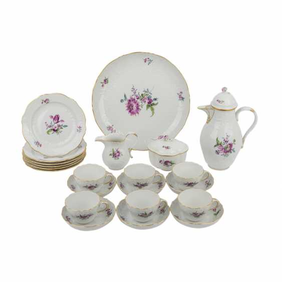 """MEISSEN coffee service for 6 persons """"floral bouquet, old style"""", 20. Century - photo 1"""