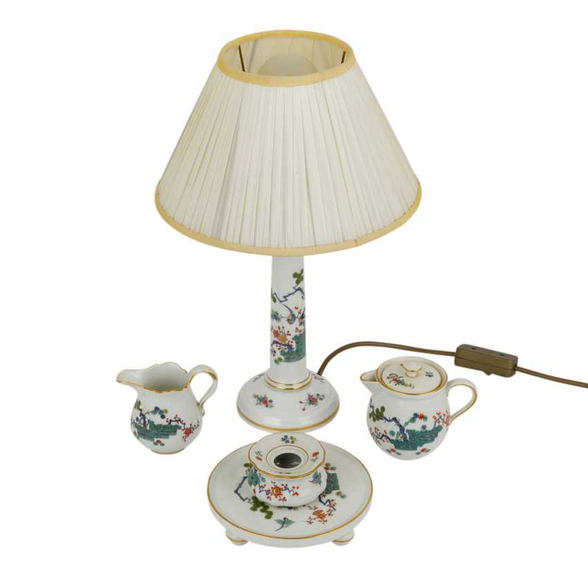 MEISSEN 4 service parts and lamp 20. Century - photo 1