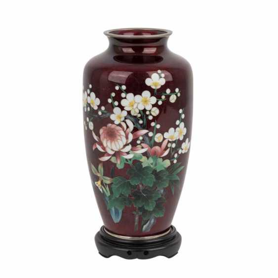 Cloisonné Vase. JAPAN, 20. Century. - photo 1