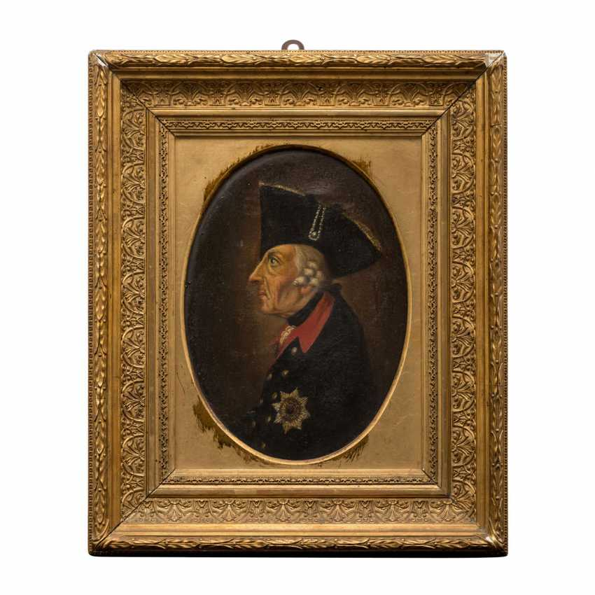 """PAINTER of the 19th century. Century, """"Frederick the Great Old Fritz"""", - photo 1"""