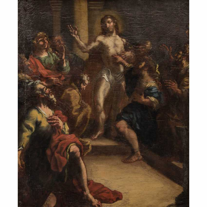 """OF SOUTH GERMAN PAINTERS 17./18. Century, """"Christ appearing to the apostles"""", - photo 1"""