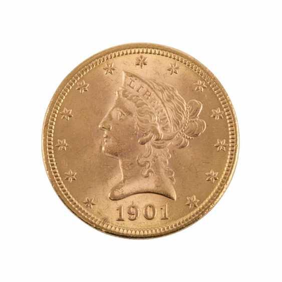 USA/GOLD - 10 Dollars 1901 Liberty Head, - photo 1