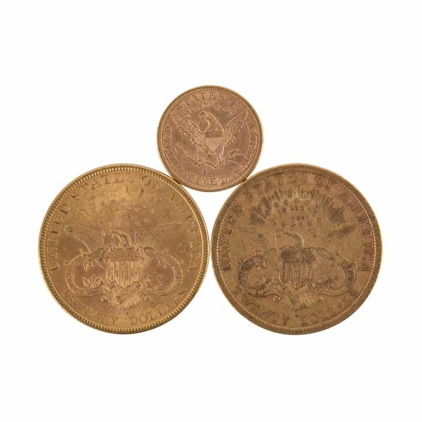 USA/GOLD - Konvolut: 2 x 20 Dollars 1879 + 1894 S - photo 1