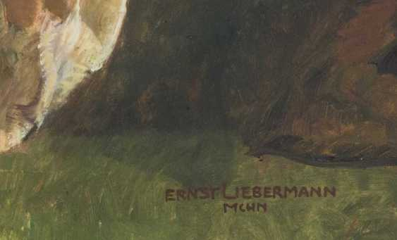 "LIEBERMANN, ERNST (Langemüß in Meiningen 1869-1960 Beuerberg, upper Bavaria), ""Female Nude in front of a mirror standing"" - photo 3"
