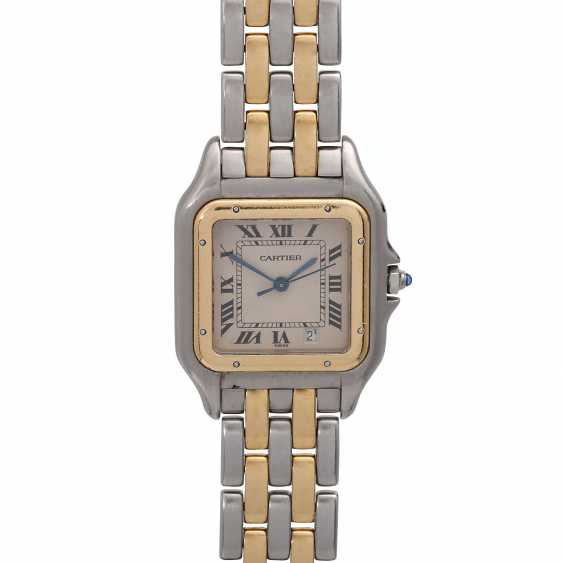 CARTIER Panthere ladies watch, approx. mid-1980s, probably in Ref. 83083242. Stainless Steel/Gold. - photo 1