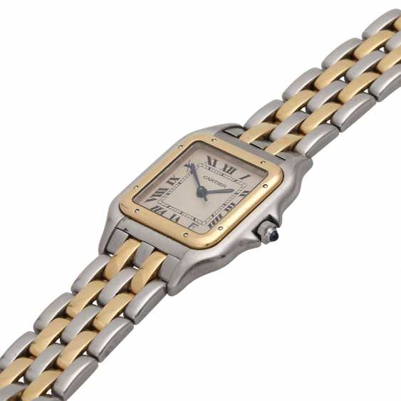 CARTIER Panthere ladies watch, approx. mid-1980s, probably in Ref. 83083242. Stainless Steel/Gold. - photo 4