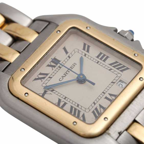 CARTIER Panthere ladies watch, approx. mid-1980s, probably in Ref. 83083242. Stainless Steel/Gold. - photo 5