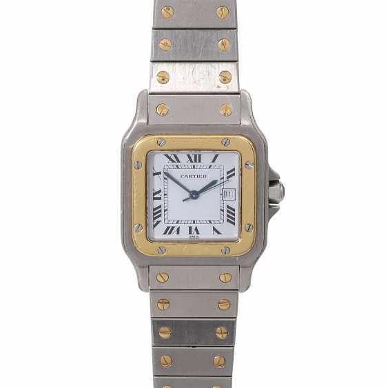 CARTIER Santos wrist watch, CA. early 1980s. Stainless Steel/Gold. - photo 1