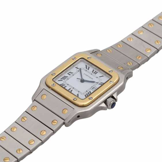 CARTIER Santos wrist watch, CA. early 1980s. Stainless Steel/Gold. - photo 4