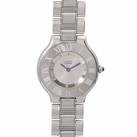 CARTIER Must 21 women's watch, Ref. 1330. Stainless steel. - photo 1