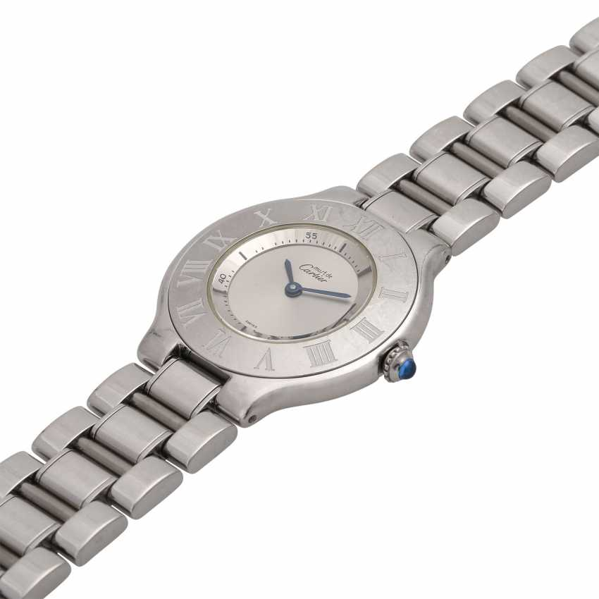 CARTIER Must 21 women's watch, Ref. 1330. Stainless steel. - photo 4