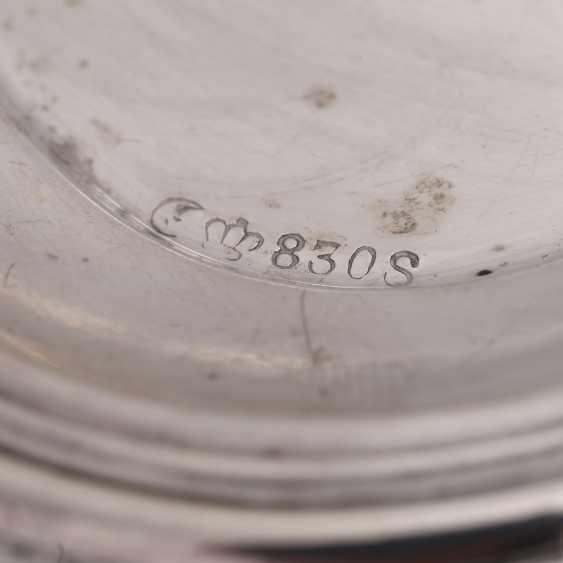 GEBRÜDER DEYHLE 2-piece Rahmservice tablet, 830 silver, 20. Century. - photo 5