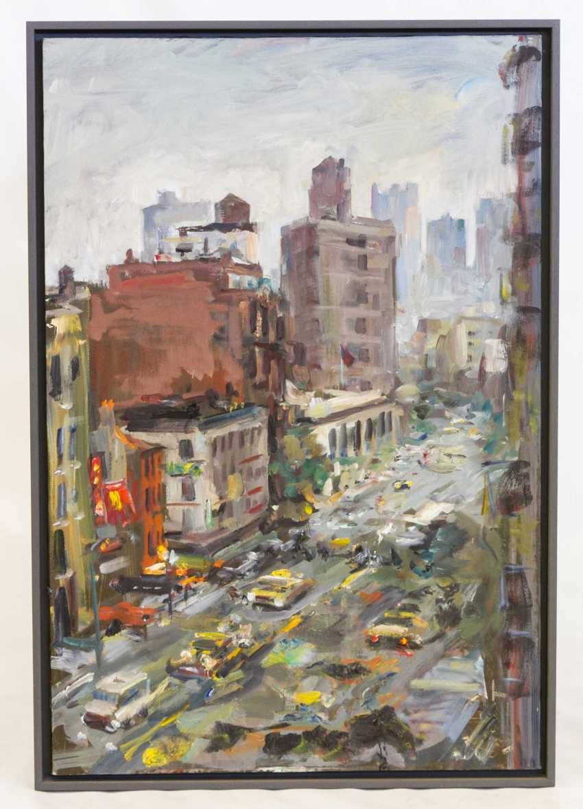 "LEIPPERT, JÜRGEN (geb. In 1944, in Stuttgart, working at the same place), ""New York, Thunderstorm"", - photo 2"