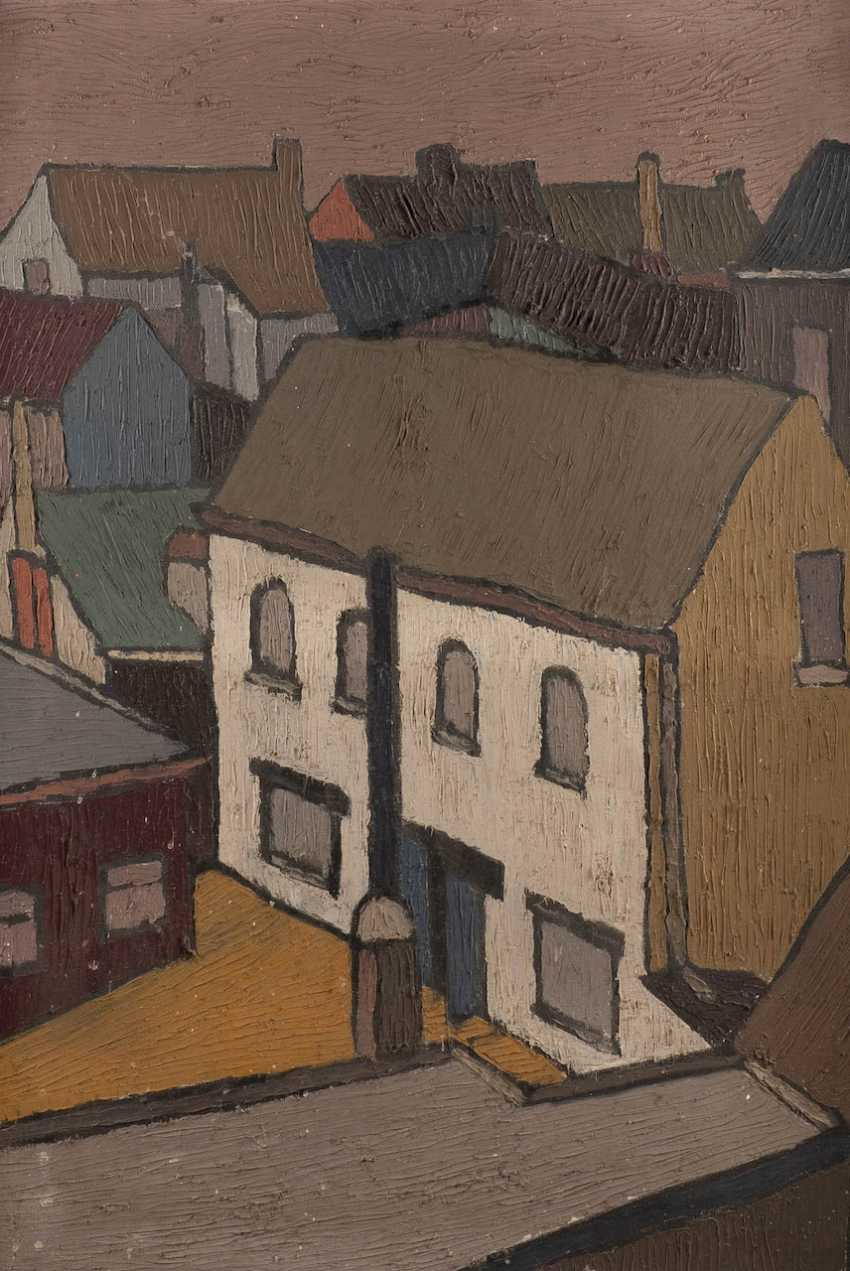 EXPRESSIONIST Working in the 1. Half of the 20th century. Century, probably in the Netherlands or Scandinavia. HOUSES OF A CITY - photo 1