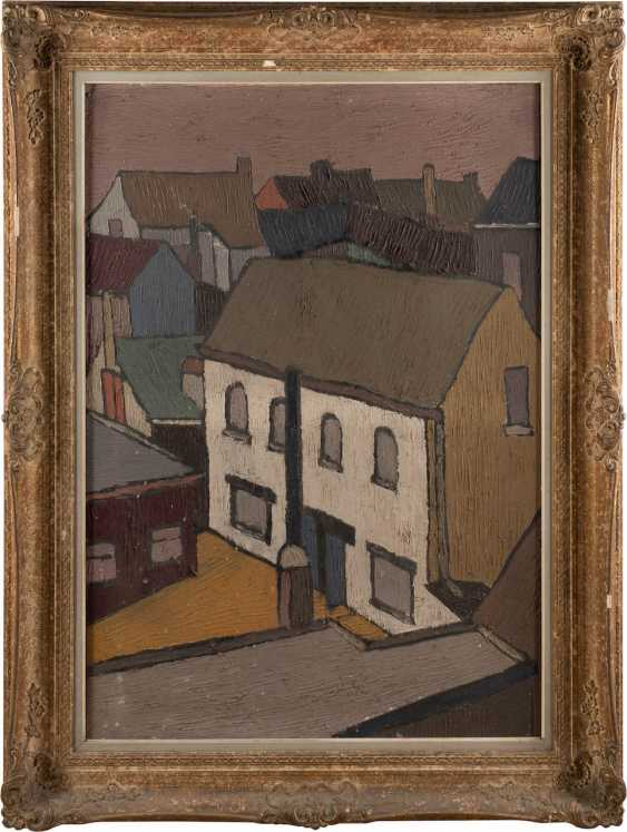 EXPRESSIONIST Working in the 1. Half of the 20th century. Century, probably in the Netherlands or Scandinavia. HOUSES OF A CITY - photo 2