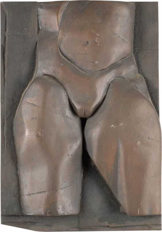 HELMUT LANDER, 1924 in Weimar, 2013 Darmstadt, Germany. PAIR OF BRONZE RELIEFS 'TORSOS' - photo 2