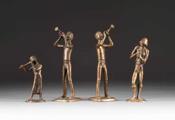 MODERN image sculptor Active in the 2. Half of the 20th century. Century. GROUP OF FOUR MUSICIANS - photo 1