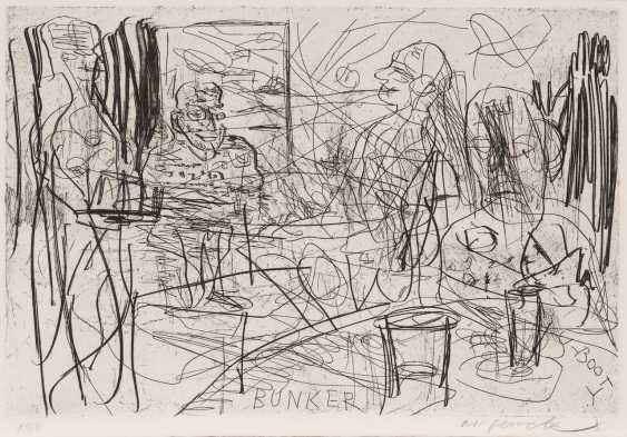 A. R. PENCK 1939 Dresden - 2017 Zurich. 'PUBS AND PUB TEXTS' (PORTFOLIO OF 12 ETCHINGS) - photo 1