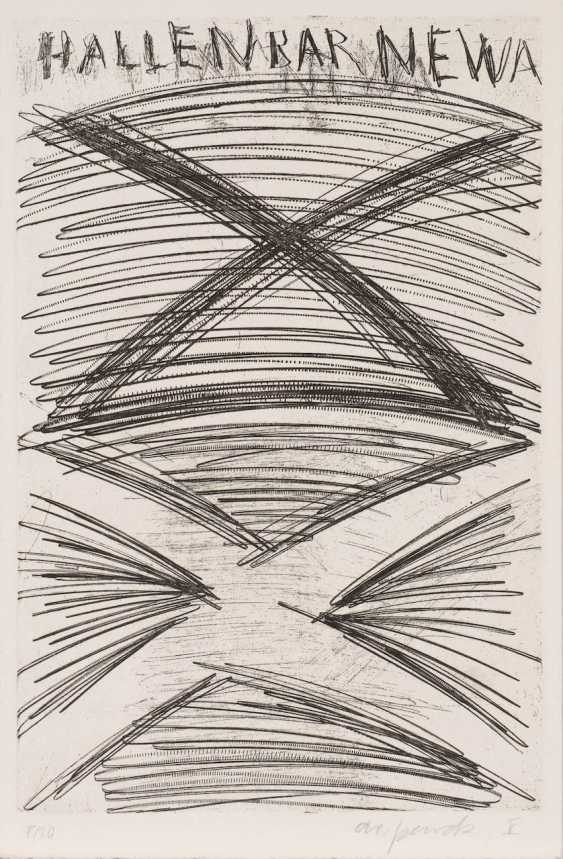 A. R. PENCK 1939 Dresden - 2017 Zurich. 'PUBS AND PUB TEXTS' (PORTFOLIO OF 12 ETCHINGS) - photo 2
